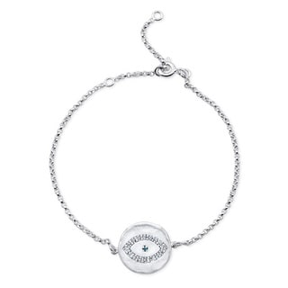 Sterling Silver Diamond Accent Evil Eye Disk Bracelet