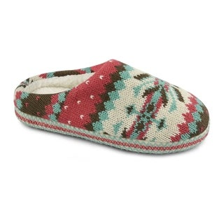 Muk Luks Women's Crystal Pattern Scruff Slippers