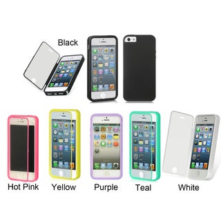 Universal Apple iPhone 5/5S Wrap up Soft TPU Case w/ Built-in Screen Protector