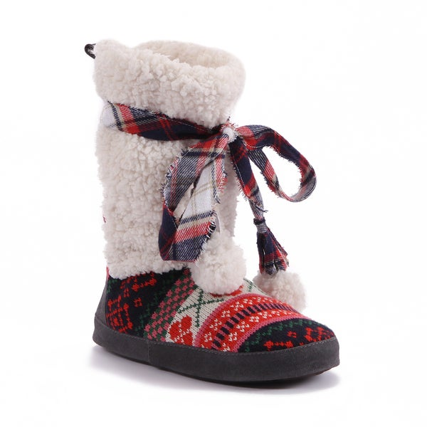 Muk Luks Women's Jewel Print Slipper Boots