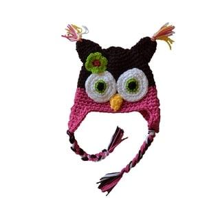 WhooHats Girl's Owl Crocheted Beanie