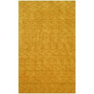 Hand-Loomed Gold Wool Rug (5' x 8')