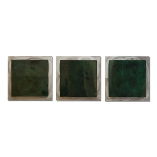 Belle 'Emerald Essence' Layered Contemporary Metal Art
