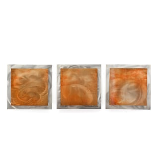 Orange Essence' 2-Layer Modern Metal Wall Art