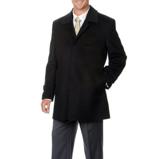 Montefino Men's 'Russel' Charcoal Cashmere and Wool Blend Top Coat
