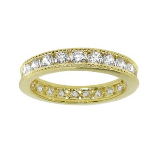 Moise 14k Gold over Silver Cubic Zirconia Eternity Band