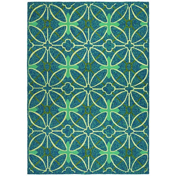 Fresco Netherlands/Aqua-Blue 8' x 11' Rug