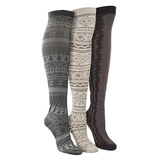 MUK LUKS 'Neutral Pack' Over the Knee 3 Pair Pack