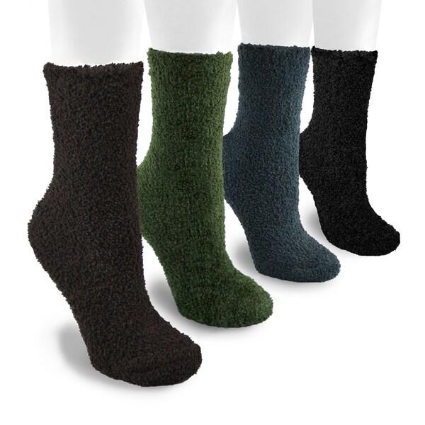 MUK LUKS Men's 8-inch Micro Chenille 4 Pair Sock Pack