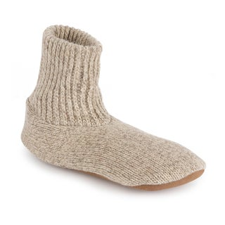 MUK LUKS Morty - Men's Ragg Oatmeal Wool Slipper Sock