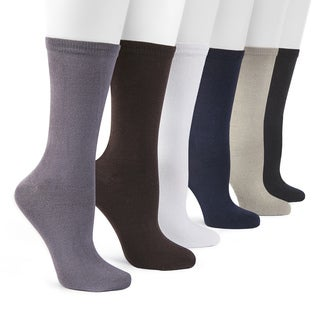 MUK LUKS Men's 9-inch Rayon from Bamboo 6 Pair Sock Pack