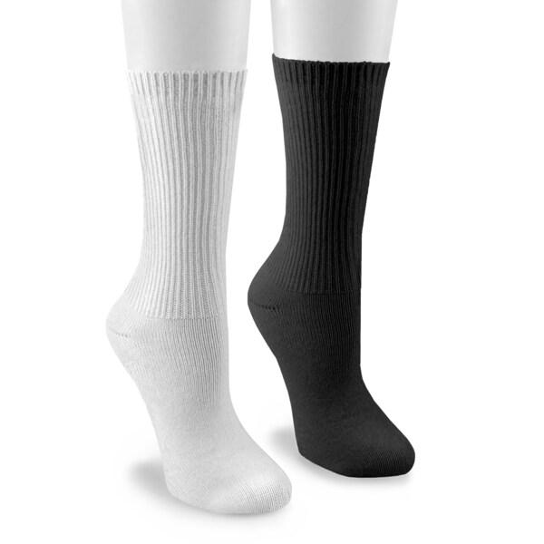 MUK LUKS Men's Athletic/Casual Crew 4 Pair Sock Pack