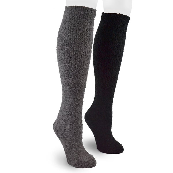 MUK LUKS Men's Micro Chenille 2 Pair Sock Pack