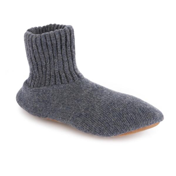 MUK LUKS Morty - Men's Ragg Navy-Blue Wool Slipper Sock