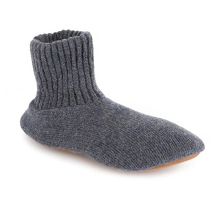 MUK LUKS Morty - Men's Ragg Navy-Blue Wool Slipper Sock