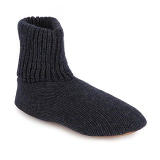 MUK LUKS Morty - Men's Ragg Wool Slipper Sock with Leather Sole