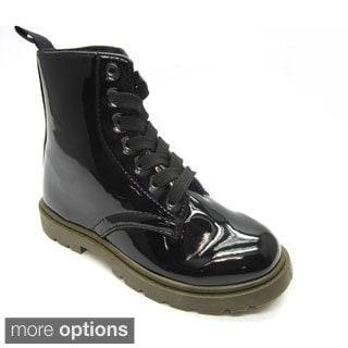 Blue Children's 'K-Milraver' Black Combat Boots