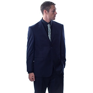 Pronto Men's 'Wool Max' Navy Wool Blend 2-piece Suit