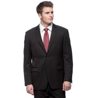 Martino Men's Slim Fit 'Wool Rich' Black Wool Blend Suit