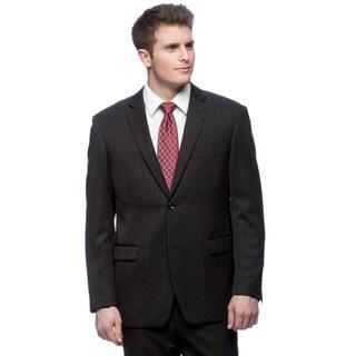 Martino Men's Slim Fit 'Wool Rich' Black Wool Blend Suit
