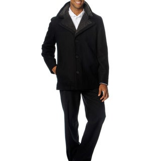 Perry Ellis Portfolio Men's Wool Blend Coat