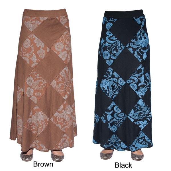 Handcrafted Patch Cotton Boho Chic Long Gypsy Skirt (Nepal)