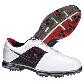 Nike Men's Lunar Control White/Red/Black Golf Shoes