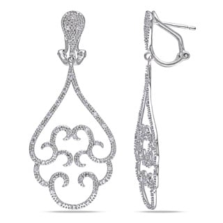 Miadora 14k White Gold 1/2ct TDW Diamond Chandelier Earrings (G-H, I2-I3)