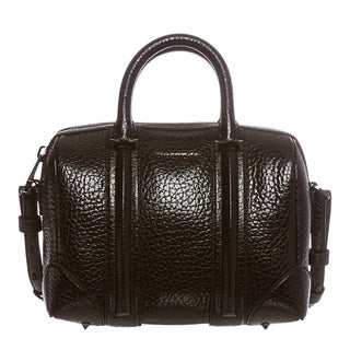Givenchy 'Lucrezia' Mini Glazed Pebbled Leather Duffel