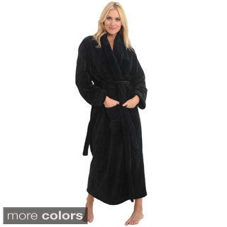 Del Rossa Women's Full Length Shawl Collar Fleece Robe