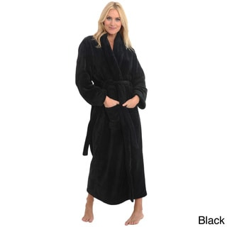 Del Rossa Women's Full Length Shawl Collar Fleece Robe