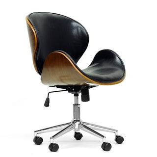 Baxton Studio Bruce Walnut and Black Modern Office Chair