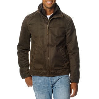 R&O Men's Antique Cotton Double Collar Jacket