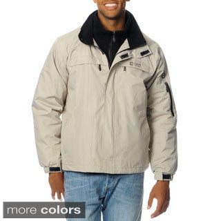 Chaps Men's Double Collar Fleece Bib Jacket