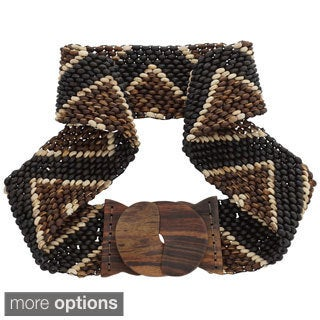 Handmade Coco Bead Motif Belt (Indonesia)
