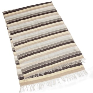 Handcrafted Moroccan Sahara Stripe Table Runner (Morocco)