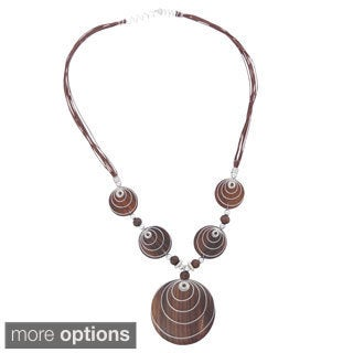 Metal Spiral Accent Pendent Necklace (Indonesia)