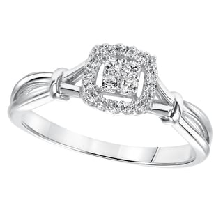 Cambridge Sterling Silver 1/6ct TDW Diamond Promise Ring