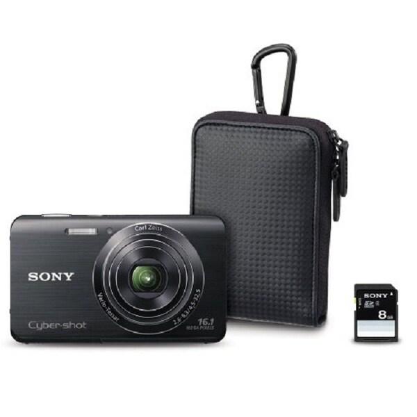 Sony Cyber-Shot DSC-W650 16.1MP Black Digital Camera Bundle