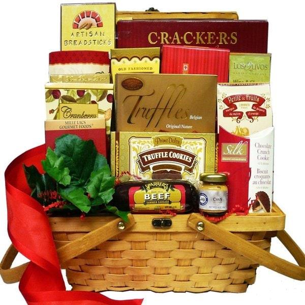 Bounty of Flavor Gourmet Food Hamper Smoked Salmon Gift Basket