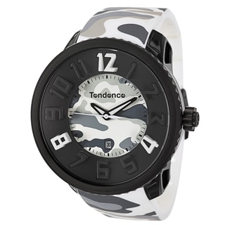 Tendence Men's 'Gulliver Round Camo' Stainless Steel Quartz Watch