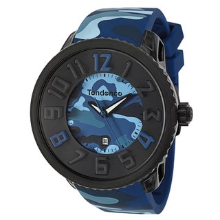 Tendence Men's 'Gulliver Round Camo' Stainless Steel Watch