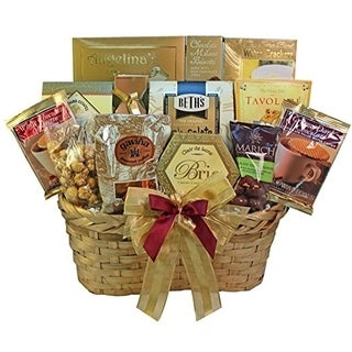 Golden Splendor Gourmet Food/ Snacks Gift Basket