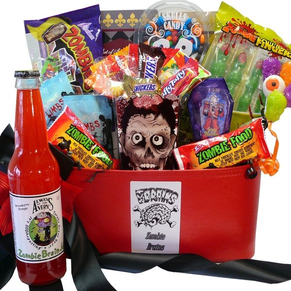 Zombie-licious Eat or Be Eaten Halloween Gift Basket