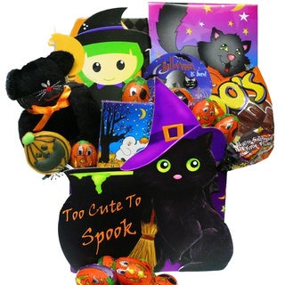 Too Cute To Spook Halloween Chocolate/ Candy Gift Basket