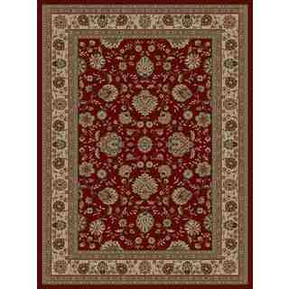 Traditional Oriental Red Area Rug (5'3 x 7'3)