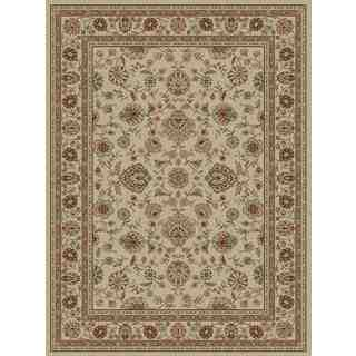 Traditional Oriental Ivory Area Rug (5'3 x 7'3)