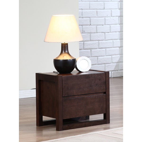 Sava 2-drawer Wenge Nightstand