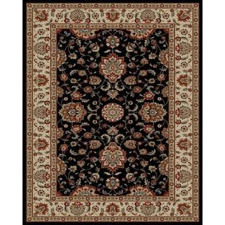 Traditional Oriental Black Area Rug (7'10 x 9'10)