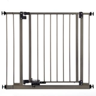 North States Burnished Steel Slide-Step Open Metal Gate